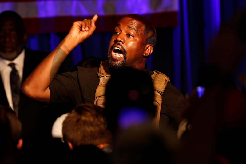 Kanye West's July 19 campaign rally in South Carolina (REUTERS)