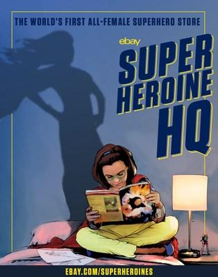 """eBay launches """"Superheroine HQ"""" – the world's first online shop dedicated to female superheroes offering rare and right now comics, collectibles and merchandise all in one place at eBay.com/superheroines. eBay"""