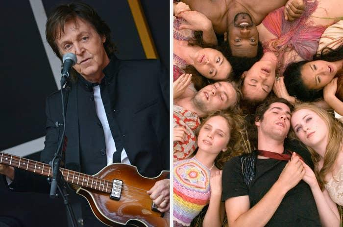 """Paul McCartney and the cast of """"Across the Universe"""""""