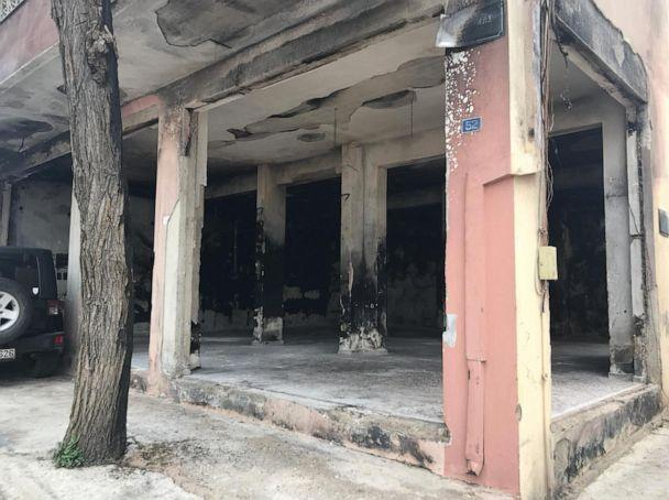 PHOTO: The 'Solidarity Warehouse' in Chios, Greece, after an apparent arson attack in March 2020. (One Family - No Borders)