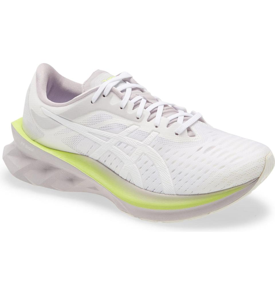 <p>Besides looking like a cool futuristic shoe, the <span>Asics Novablast Running Shoe</span> ($130) was made to perform. The foam at the sole provides both cushion and bounce; what more could you ask for?</p>