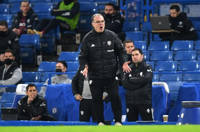 Leeds manager Marcelo Bielsa came up against Frank Lampard again