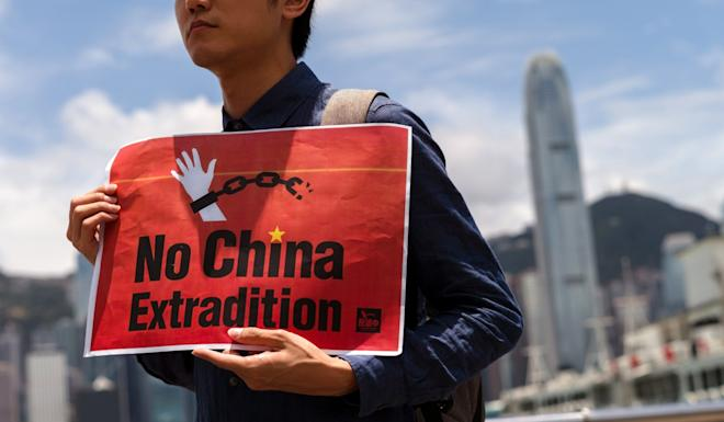 The government's extradition bill, which was prompted by the Taiwan murder case, has drawn huge opposition from Hongkongers, who fear it would allow people in the city to be victimised by mainland Chinese authorities. Photo: EPA