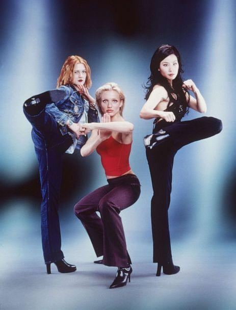 PHOTO: Drew Barrymore, Cameron Diaz and Lucy Liu star as a trio of elite private investigators in action-comedy, 'Charlie's Angels.'  (Columbia Pictures )