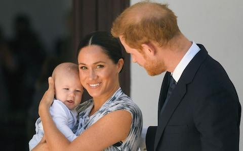 The Duke and Duchess of Sussex with baby Archie - Credit: Pool