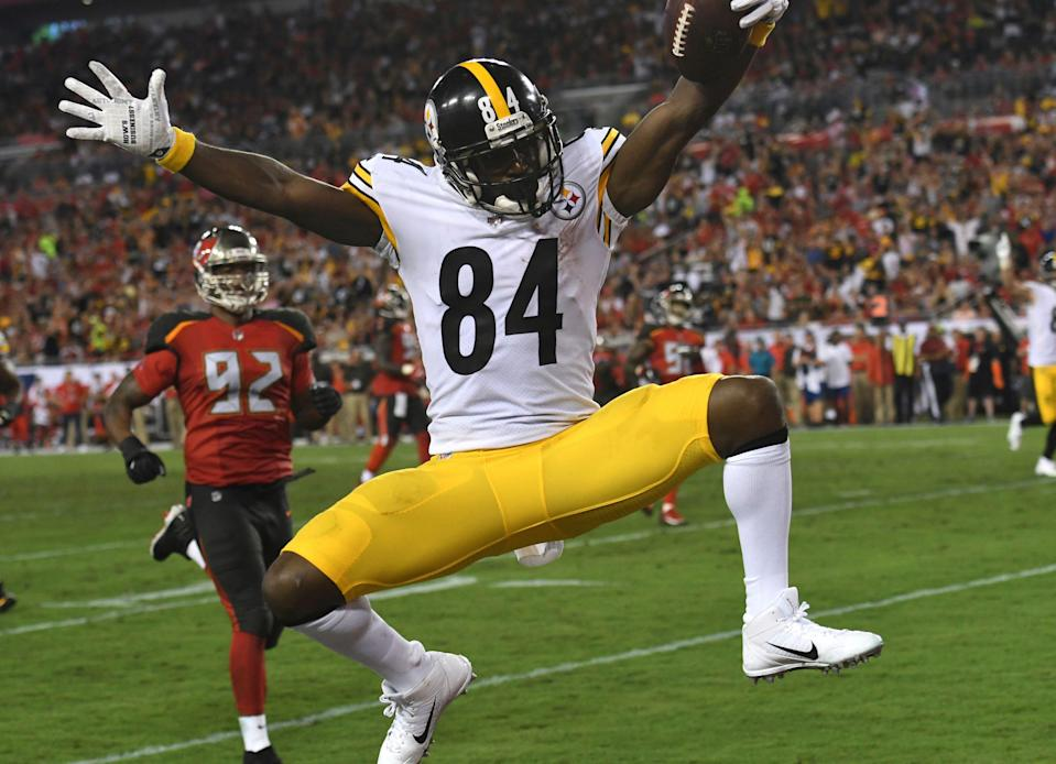 Antonio Brown was a big winner in his trade to the Raiders. (AP)