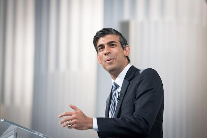 Finance Minister Rishi Sunak delivers his