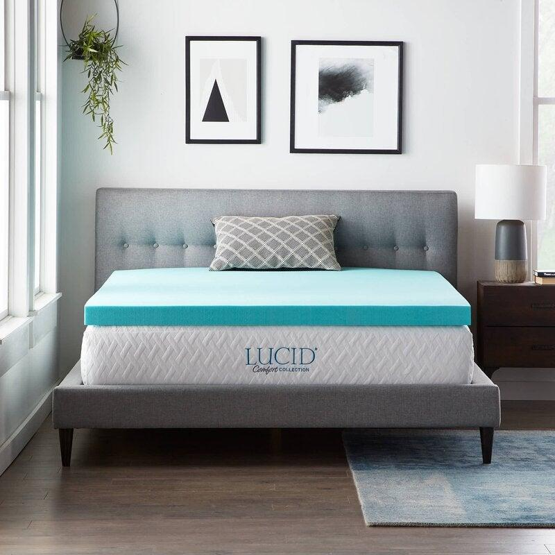 "<h2>3"" Gel Memory Foam Mattress Topper</h2><br><strong>Discount:</strong> 29% off<br><br><strong>The Hype: </strong>4.6 out of 5 stars and 14,049 reviews<br><br><strong>Deal Hunters Say: </strong>""I would wake up in the morning with a terrible ache in my back; I did some research and found that this Lucid gel memory form mattress topper might help. I ordered it, it came in record time, I am a happy person in the morning now. This topper took care of that problem of a sore back.""<br><br><em>Shop </em><strong><em><a href=""https://fave.co/3luoy2T"" rel=""nofollow noopener"" target=""_blank"" data-ylk=""slk:Lucid Comfort Collection"" class=""link rapid-noclick-resp"">Lucid Comfort Collection</a></em></strong><br><br><strong>Lucid Comfort Collection</strong> 3"" Gel Memory Foam Mattress Topper, $, available at <a href=""https://go.skimresources.com/?id=30283X879131&url=https%3A%2F%2Ffave.co%2F3pzj4WS"" rel=""nofollow noopener"" target=""_blank"" data-ylk=""slk:Wayfair"" class=""link rapid-noclick-resp"">Wayfair</a>"