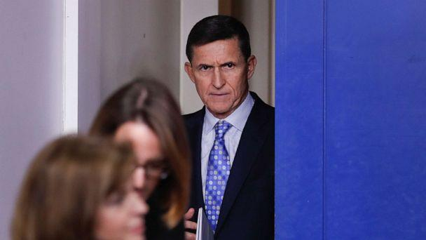 PHOTO: In this Feb. 1, 2017, photo, then-National Security Adviser Michael Flynn arrives for the daily news briefing at the White House, in Washington. (Carolyn Kaster/AP, FILE)