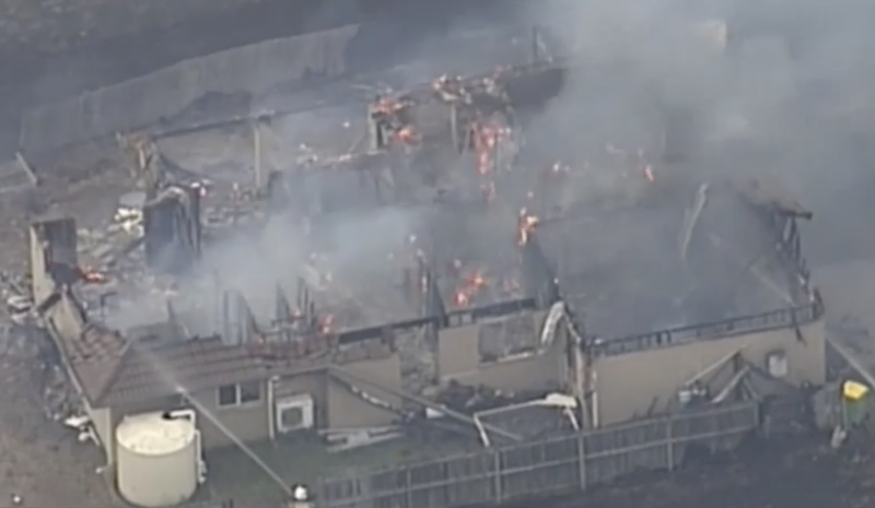 At least one home has been destroyed in the town of Laidley in the Lockyer Valley. Source: Nine News.