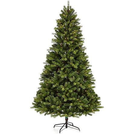 NOMA 7-Foot Pre-lit Christmas Tree with Lights. (Photo: Amazon)