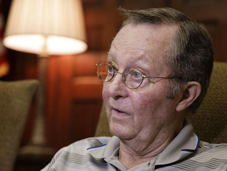 Bobby Russell, the husband of Janet Russell, talks about his wife's condition during an interview on Friday, Oct. 5, 2012, in Nashville, Tenn. Janet Russell is suffering from a deadly fungal meningitis that 39 people in six states have also contracted after getting steroid shots for back pain. (AP Photo/Mark Humphrey)