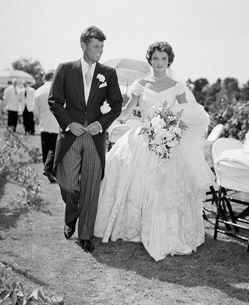 Jackie and JFK on their wedding day. Source: Supplied