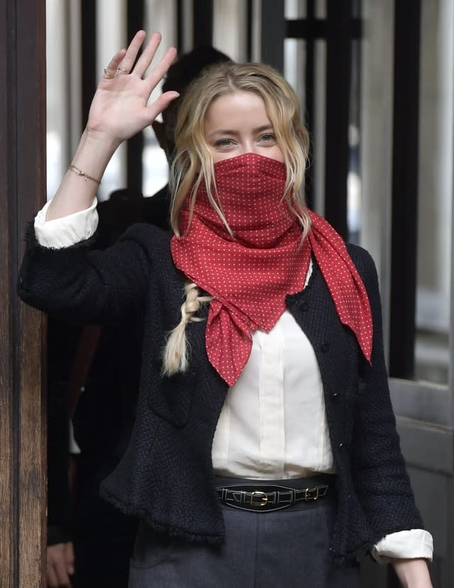 Actress Amber Heard at the High Court