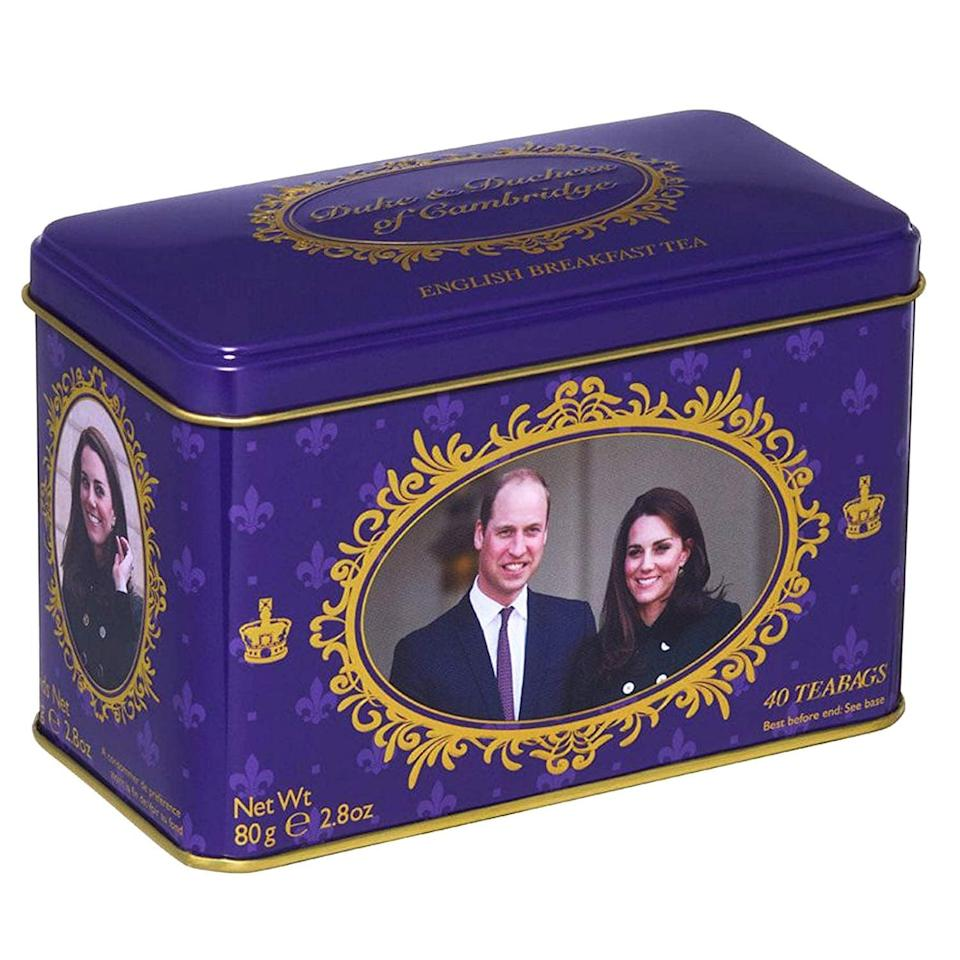 <p>Give tea time the royal treatment with these <span>Duke and Duchess of Cambridge Tea Bags</span> ($11).</p>