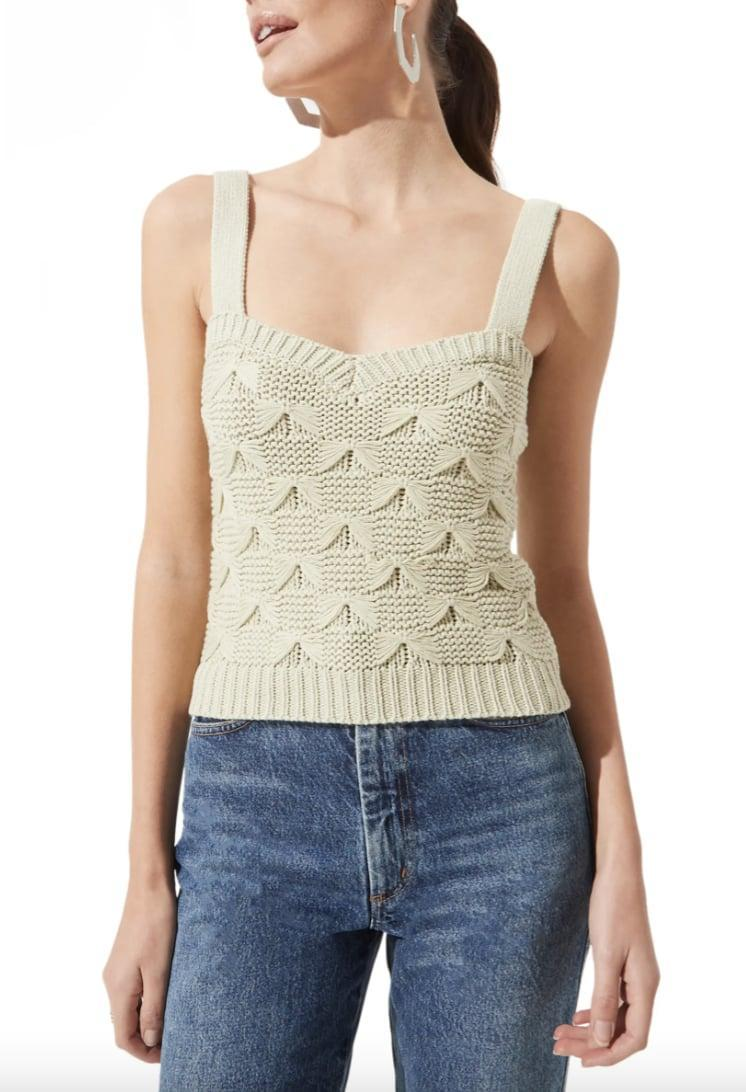 <p>Show off in this fun and textured <span>ASTR the Label Sweater Tank</span> ($49).</p>