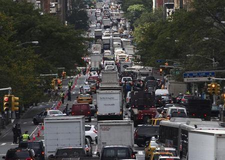 Heavy traffic jam on New York's 2nd Avenue builds up during the United Nations General Assembly in New York