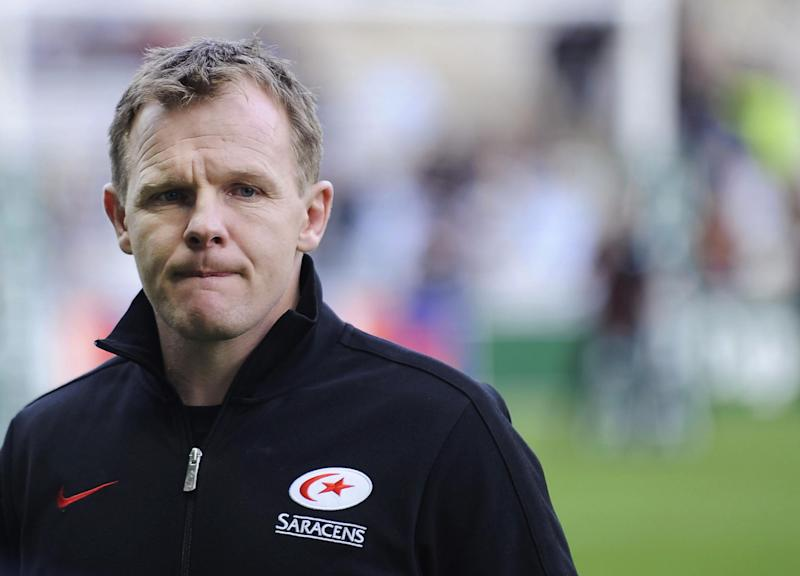Saracens coach Mark McCall is pictured in 2013, at the Beaujoire Stadium in Nantes, western France