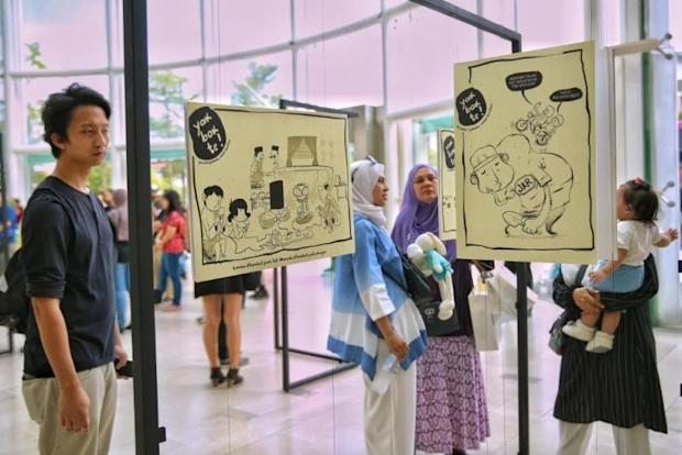 Amin is currently hosting his own solo art exhibition in the Publika Shopping Gallery in Kuala Lumpur until April 16.