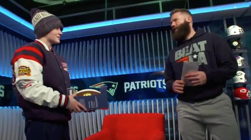 Super Bowl 53: Julian Edelman surprises bullied female QB with tickets