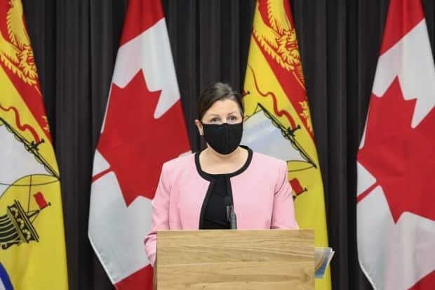 Dr. Jennifer Russell says New Brunswickers should remain vigilant as COVID-19 active case counts drop to 75. 'Get tested if you have any symptoms,' she said.