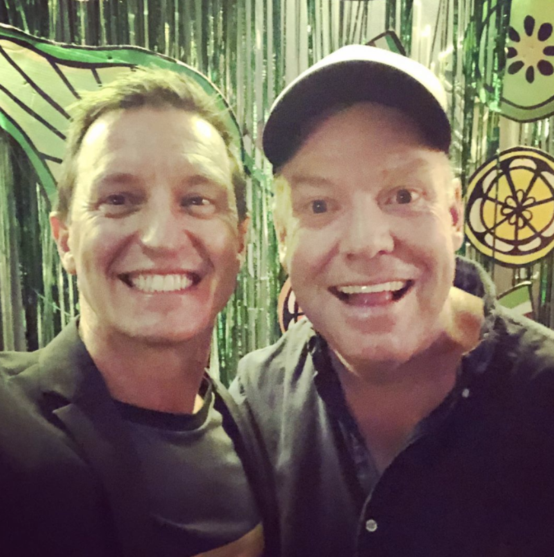 Rove with his long-time collaborator, Petter Helliar. Photo: Instagram/rovemcmanus.