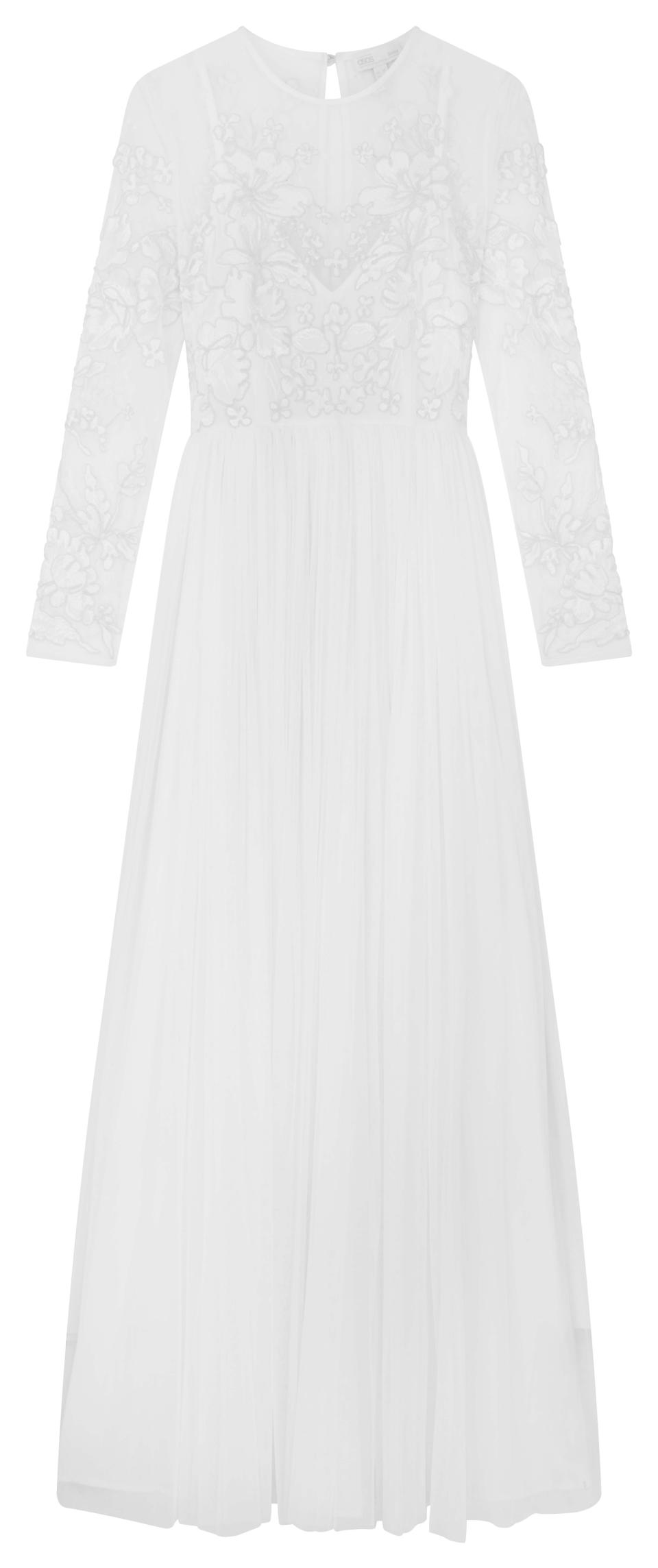 This $190 gown is similar to the wedding dress Bindi Irwin wore when she married Chandler Powell in March last year. Photo: ASOS