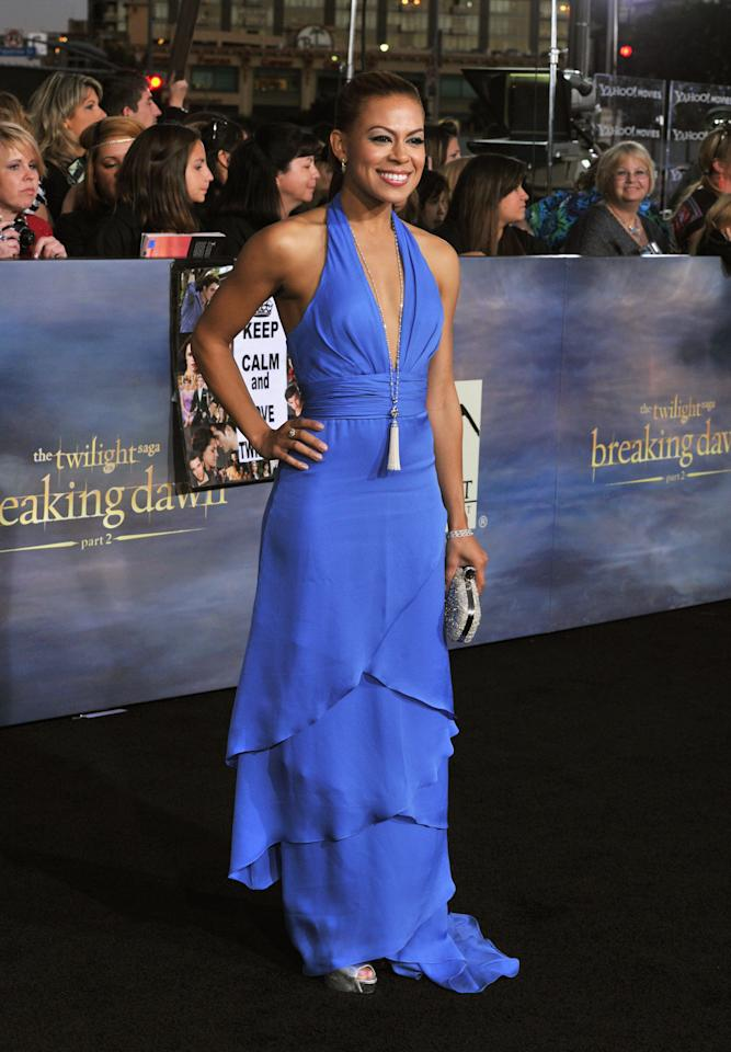 "Toni Trucks arrives at ""The Twilight Saga: Breaking Dawn - Part 2"" Los Angeles premiere at the Nokia Theatre L.A. Live on November 12, 2012 in Los Angeles, California.  (Photo by Lester Cohen/WireImage)"