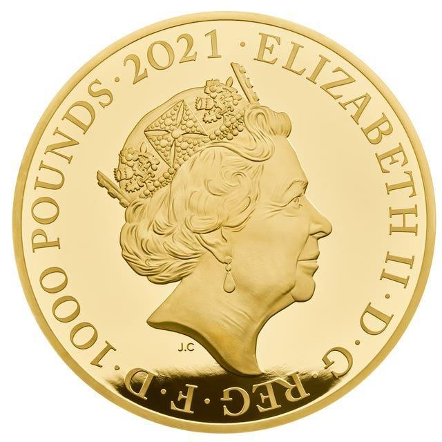 One of a new range of commemorative coins celebrating the Queen's 95th birthday on April 21