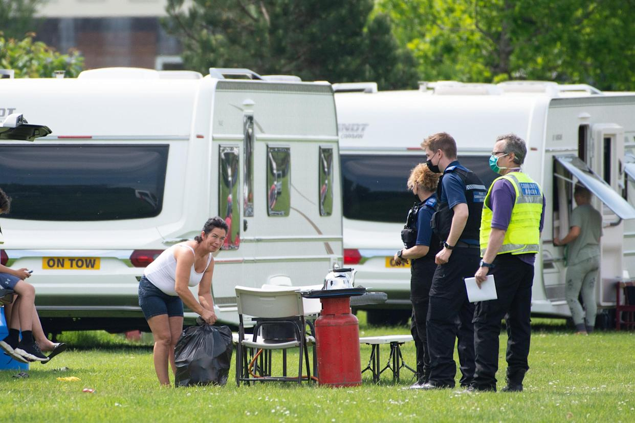"""Earlier this year a charity revealed a """"shocking"""" lack of areas for travellers to stay in England. (SWNS)"""