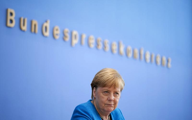 Angela Merkel suggests talks could go on until the end of the transition period - EPA