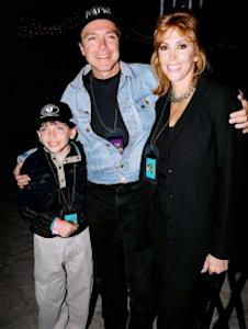 Cassidy with wife Sue and son Beau