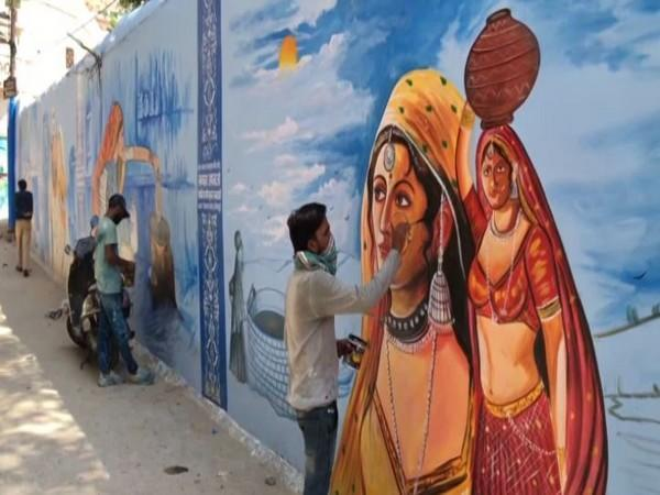 Jodhpur walls with with colorful mural art painting. (Photo/ANI)