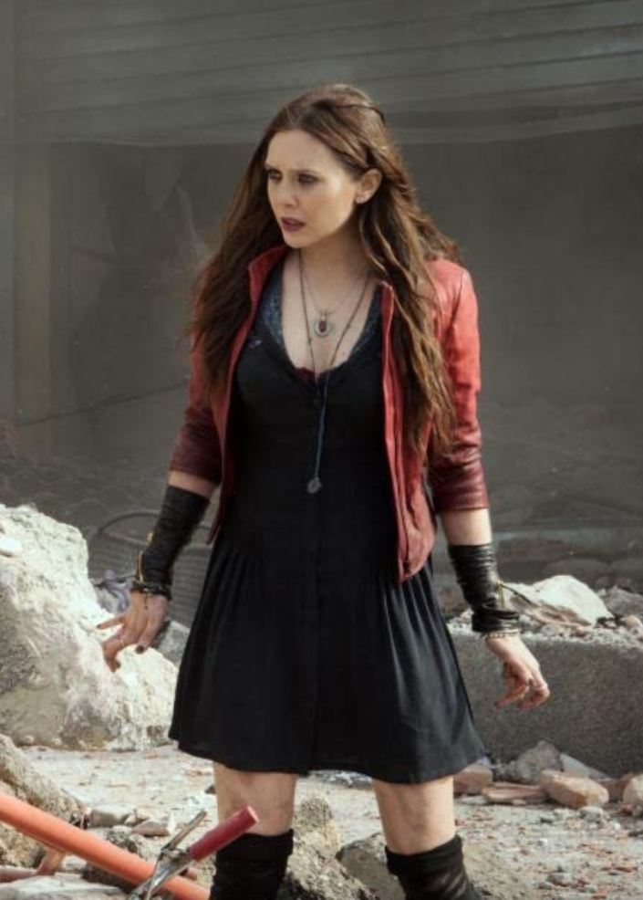 "<p>While Elizabeth Olsen trained for her role in <em>Avengers: Age of Ultron,</em> the actress didn't feel forced to shed pounds to play Scarlet Witch. ""The thing with Marvel is they never tell you to get into shape<em>,"" </em>Olsen told <em><a href=""https://www.nytimes.com/2019/04/22/style/elizabeth-olsen-beauty-regimen.html?smid=nytcore-ios-share"" rel=""nofollow noopener"" target=""_blank"" data-ylk=""slk:The New York Times"" class=""link rapid-noclick-resp"">The New York Times</a>. </em>""They just hire the people and let them figure out the way to express the character. They will set you up with a trainer if you want, but that's it."" To get into fighting shape, she trained for a ""dense, heavy, and athletic"" build, while also working with <a href=""https://people.com/health/elizabeth-olsen-lost-body-fat-gained-muscle-avengers-infinity-war/"" rel=""nofollow noopener"" target=""_blank"" data-ylk=""slk:nutritionist Dr. Philip Goglia"" class=""link rapid-noclick-resp"">nutritionist Dr. Philip Goglia</a>. </p>"