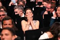 """Cotillard blows a Covid-safe kiss at the premiere of opening film """"Annette"""""""