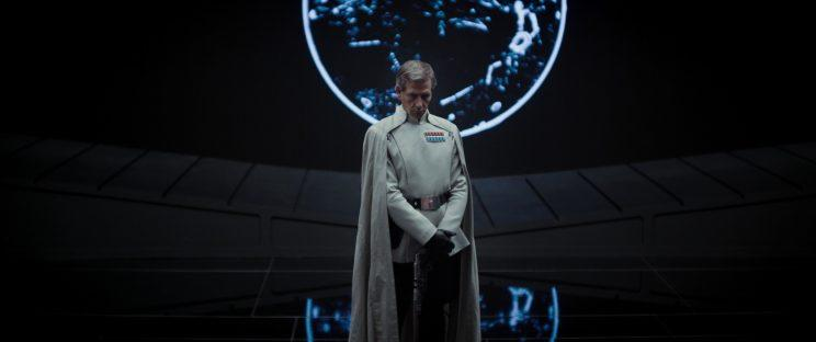 Ben Mendelsohn stars as Director Orson Krennic, an evil man with a beauty of a cape. (Photo: Lucasfilm)