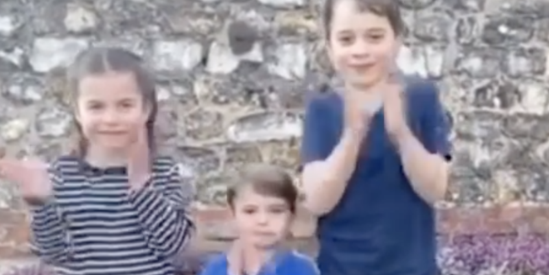 Young royals rally behind healthcare workers in adorable #ClapForCarers video