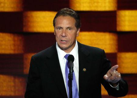 New York state Governor Cuomo speaks on the final night of the Democratic National Convention in Philadelphia