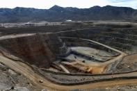 FILE PHOTO: FILE PHOTO: A view of the MP Materials rare earth open-pit mine in Mountain Pass