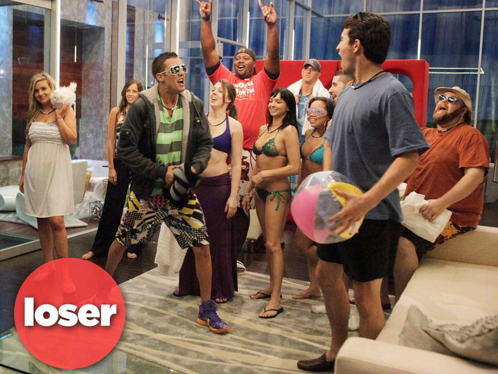 "<b>LOSER: ""The Glass House"" (ABC) </b><br><br>If fourteen people live in a reality TV house and no one watches, do they get to go home? A few weeks back, ABC rolled out its new ""Big Brother""-like reality series, where viewers get to tell the residents of a camera-filled house what to do. But it looks like what they want to do is not watch ""The Glass House""; only 4.2 million viewers bothered to watch the premiere, with that number dropping to 3.3 million in Week 2. CBS already tried suing ABC for stealing their ""Big Brother"" idea; maybe now ABC can sue CBS back for giving them such a terrible idea."