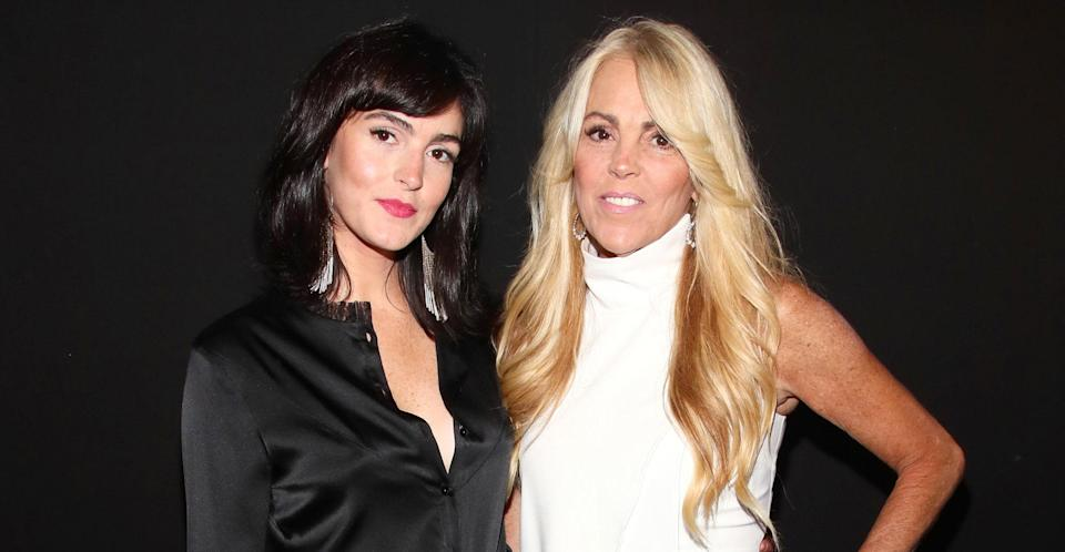 Dina with model daughter Ali at a fashion show. (Getty Images)