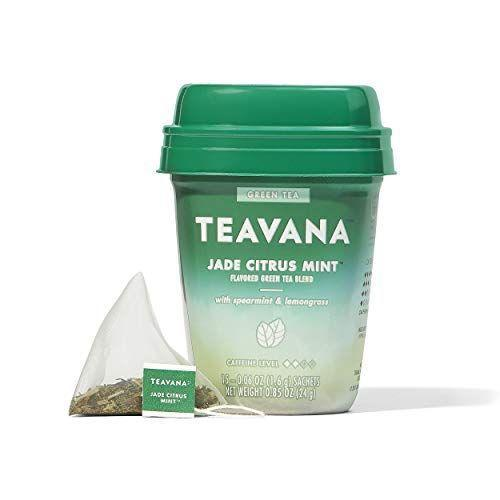 """<p><strong>Teavana</strong></p><p>amazon.com</p><p><strong>$21.88</strong></p><p><a href=""""https://www.amazon.com/dp/B07GFPMRWP?tag=syn-yahoo-20&ascsubtag=%5Bartid%7C2089.g.2205%5Bsrc%7Cyahoo-us"""" rel=""""nofollow noopener"""" target=""""_blank"""" data-ylk=""""slk:Shop Now"""" class=""""link rapid-noclick-resp"""">Shop Now</a></p><p>For mint tea lovers, we recommend Teavana's refreshing Jade Ctirus Mint Green Tea. Made with cooling spearmint and citrusy lemongrass, this is the ultimate midafternoon pick-me-up that tastes as delicious over ice as it does served steaming hot.</p>"""