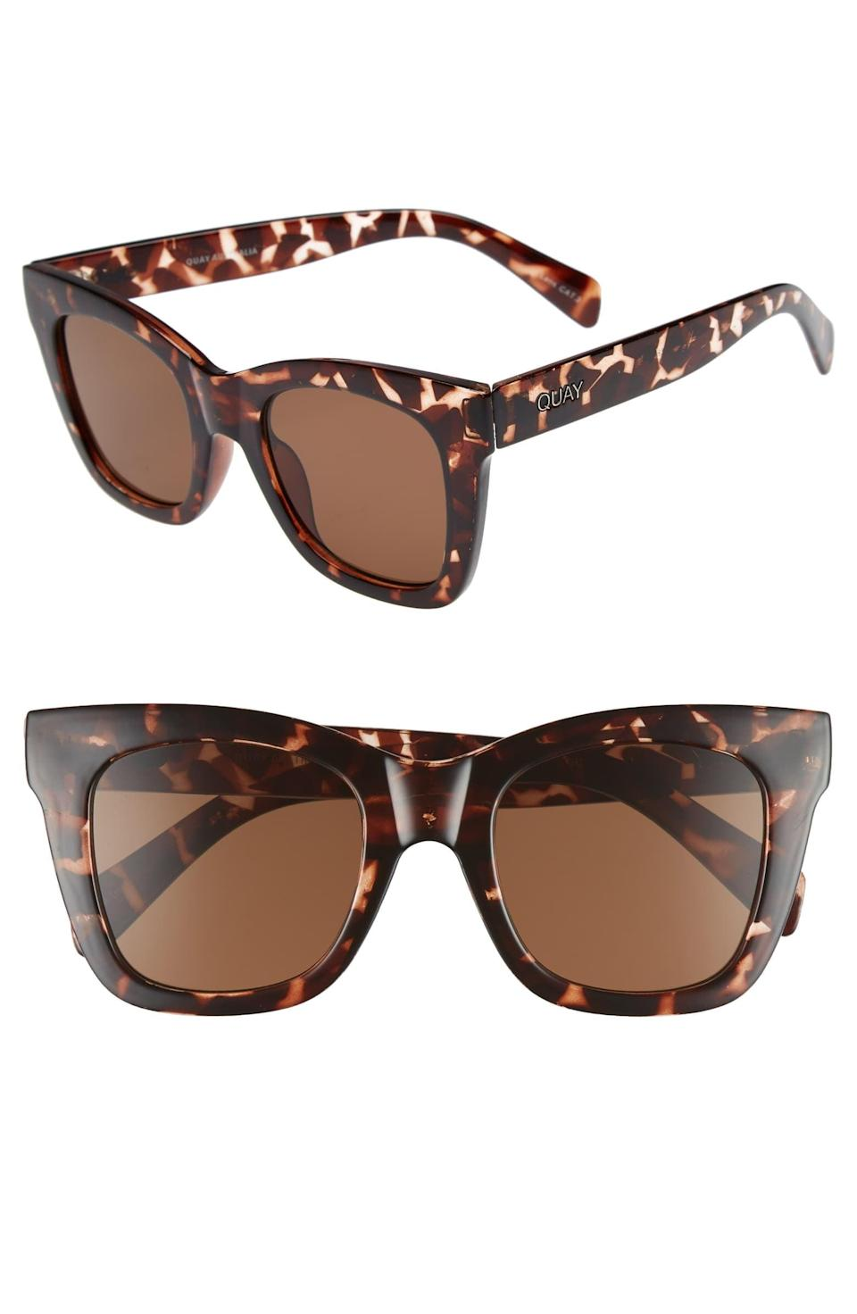 <p>Block out the haters with these big <span>Quay Australia After Hours Square Sunglasses</span> ($55).</p>