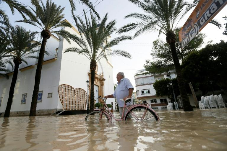 Swathes of the southeast have seen flooding (AFP Photo/Ramón)