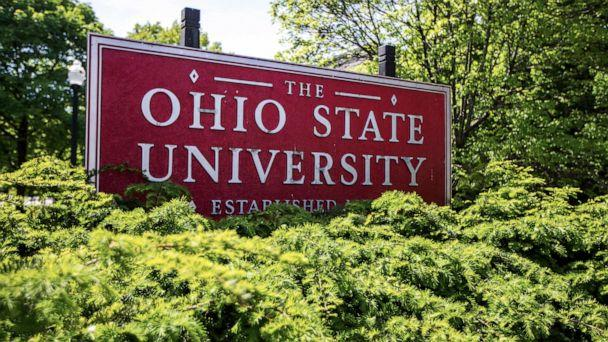 PHOTO: This May 8, 2019, photo shows a sign for Ohio State University in Columbus, Ohio. (Angie Wang/AP)