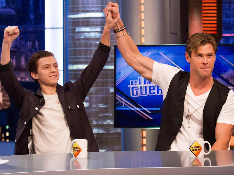tom holland chris hemsworth