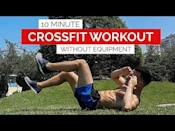 """<p>No kit needed for this speedy CrossFit workout. Expect to work hard, the intervals are challenging – forty seconds of work, followed by twenty seconds rest, 10 times over. </p><p>Take this <a href=""""https://www.womenshealthmag.com/uk/fitness/strength-training/a32892177/circuit-training/"""" rel=""""nofollow noopener"""" target=""""_blank"""" data-ylk=""""slk:circuit training"""" class=""""link rapid-noclick-resp"""">circuit training</a> workout to the next level by putting it back to the start and going again. We believe in you! </p><p><a href=""""https://www.youtube.com/watch?v=IBuwNheltdI&ab_channel=GymPerformance"""" rel=""""nofollow noopener"""" target=""""_blank"""" data-ylk=""""slk:See the original post on Youtube"""" class=""""link rapid-noclick-resp"""">See the original post on Youtube</a></p>"""