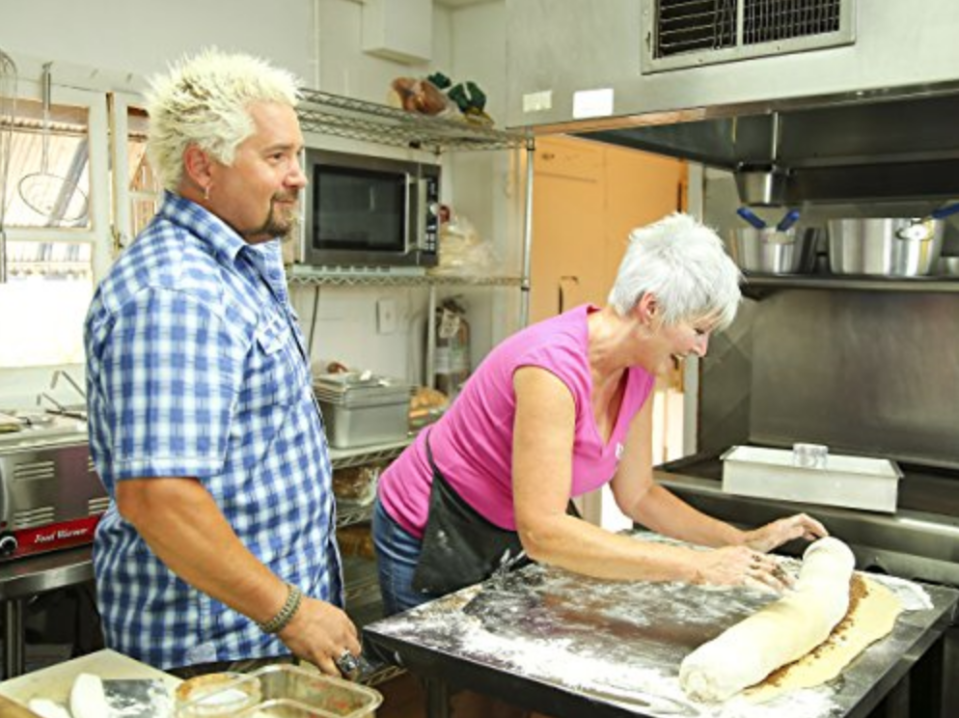 "<p>After a restaurant is chosen, the show works with the owners and chef to <a href=""https://www.thrillist.com/eat/nation/guy-fieri-diners-drive-ins-dives-behind-scenes"" rel=""nofollow noopener"" target=""_blank"" data-ylk=""slk:build a storyline"" class=""link rapid-noclick-resp"">build a storyline</a>; it's often the background of the establishment that makes each place so unique.</p>"