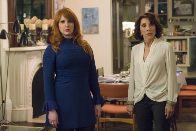 Julie and Marilyn Kessler (Andrea Martin) look judgmental as ever (Photo: Barbara Nitke/Hulu)