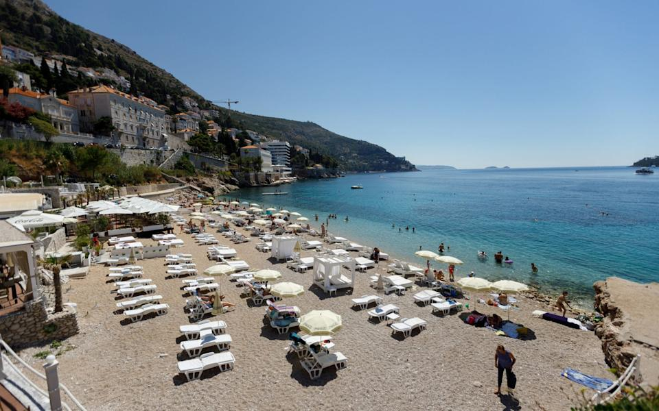 General view of the Banje beach in Dubrovnik - Antonio Bronic/Reuters